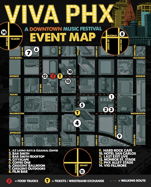 VIVA PHX >>  EVENT MAP