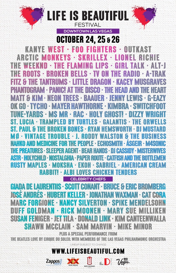 Life Is Beautiful >> Lineup